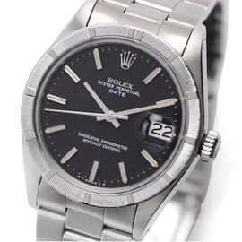Rolex Perpetual Date 1501 Stainless Steel Vintage 34mm Mens Watch