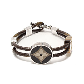 Louis Vuitton Fleur 925 Sterling Silver Monogram Brown Bracelet