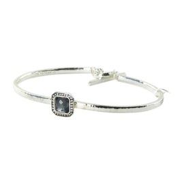 Ippolita Stella Toglette 925 Sterling Silver with 0.11cts Diamond, Hematite and Quartz Bracelet