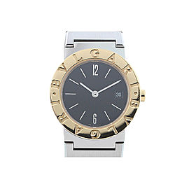 Bulgari Bvlgari BB26SGD Stainless Steel & 18k Yellow Gold Black Dial Quartz 26mm Womens Watch
