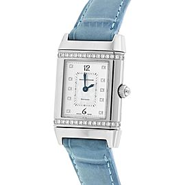 Jaeger-LeCoultre Reverso Florale 265.8.08 Stainless Steel Quartz 20mm Womens Watch