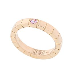 Cartier Lanieres 750 Rose Gold with Sapphire Ring Size 4.5