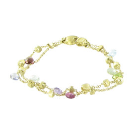 Marco Bicego Paradise 18K Yellow Gold with Topaz, Amethyst, Garnet and Peridot Bracelet