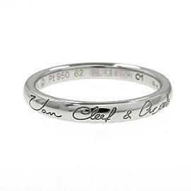 Van Cleef & Arpels Perlee 950 Platinum Signature Ring Size 10.5