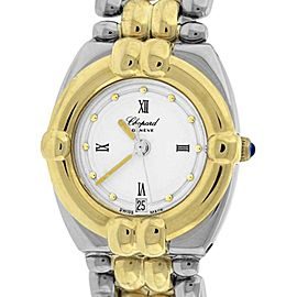 Chopard Gstaad 32/8117 18K Yellow Gold & Stainless Steel White Dial Quartz 23mm Womens Watch