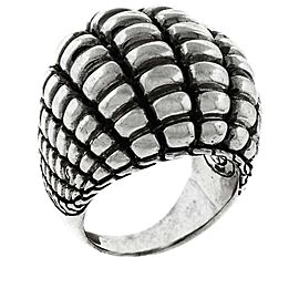 John Hardy 925 Sterling Silver Textured Dome Cocktail Ring Size 7.25
