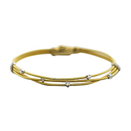 Marco Bicego 18K Yellow Gold 0.30ctw Diamond Multi-Strand Bracelet