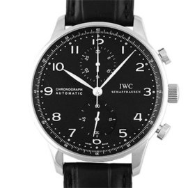 IWC Portugiese IW371447 Stainless Steel & Leather Automatic 41mm Mens Watch