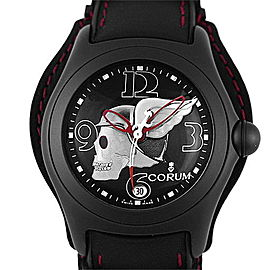 Corum Bubble Night Flyer 82.150.20 PVD Coated Stainless Steel & Leather Automatic 45mm Mens Watch