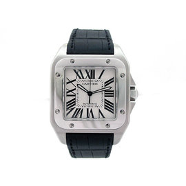 Cartier Santos W20073X8 Stainless Steel & Leather Automatic 51.1mm Mens Watch