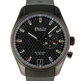 Zenith El Primero 75.2030.4055 / 21.R 580 Stainless Steel & Rubber Automatic 42mm Mens Watch