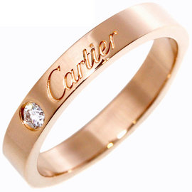 Cartier 18k Rose Gold 0.03ct. Diamond Ring Size 4.75