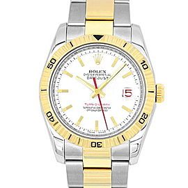 Rolex Turnograph 116263 Stainless Steel/Yellow Gold White Dial Automatic 36mm Mens Watch