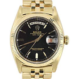 Rolex Day-Date President 6511 18K Yellow Gold Black 36mm Unisex Watch 1957