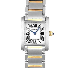 Cartier Tank Francaise W51007Q4 Stainless Steel / 18K Yellow Gold 25.35mm Womens Watches