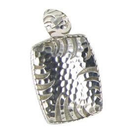 John Hardy Palu Macan 925 Sterling Silver Hammered Drop Pendant