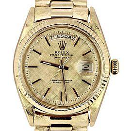 Rolex Day-Date President 1803 18K Yellow Gold Florentine 36mm Unisex Watch 1972