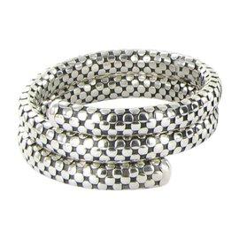 John Hardy Dot 925 Sterling Silver Double Coil Bracelet