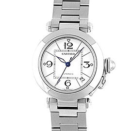 Cartier Pasha W 31074 M 7 Stainless Steel 35mm Womens Watch