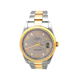 Rolex Date 15223 18K Yellow Gold and Stainless Steel Automatic Vintage 34mm Unisex Watch