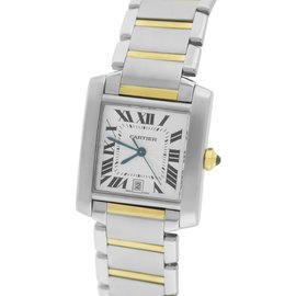 Cartier Tank Francaise W51005Q4 Yellow Gold & Stainless Steel Automatic 27.50mm Unisex Watch