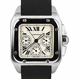 Cartier Santos 100 XL W20090X8 41.25mm Mens Watch