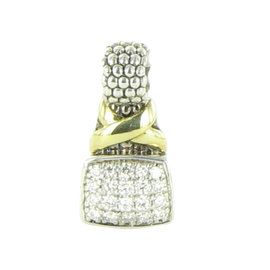 Lagos Caviar 18K Yellow Gold and 925 Sterling Silver 0.40ct Diamond Pendant