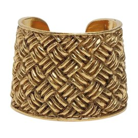Chanel Gold Tone Hardware Bracelet