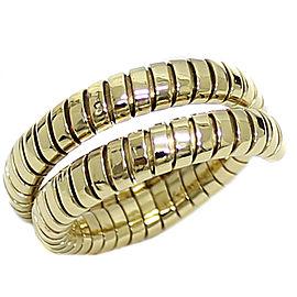 Bulgari Tubogas 18K Yellow Gold Ring Size 12