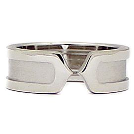 Cartier C2 750 White Gold Ring Size 5.25