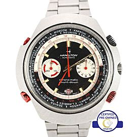 Hamilton GMT Chrono-Matic Count-Down 141001-3 Vintage 48mm Mens Watch