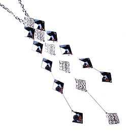 Chanel 18K White Gold Diamond Necklace