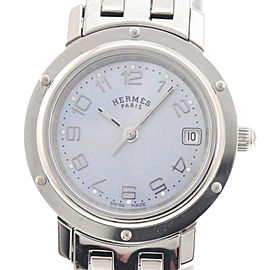 Hermes Clipper Nacre CL 4.210 24mm Womens Watch