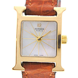 Hermes Mini H HH 1.185 20mm Womens Watch