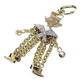 Pomellato 18K Yellow & White Gold Diamond Pendant