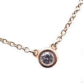 Tiffany & Co. Elsa Peretti 18K Rose Gold with 0.07ct Diamond Byzay Necklace