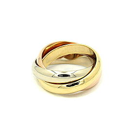 Cartier Trinity Ring 18k Yellow White & Rose Gold Ring Size 6.25