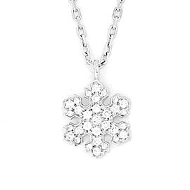 Bulgari Snowflake 18K White Gold with Diamond Necklace