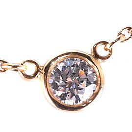 Tiffany & Co. Elsa Peretti 18K Yellow Gold 0.17ct Diamond Necklace