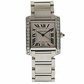 Cartier Tank Francaise W51002Q3 33mm Mens Watch