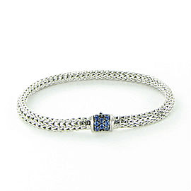 John Hardy Classic Chain 925 Sterling Silver with Blue Sapphire Bracelet