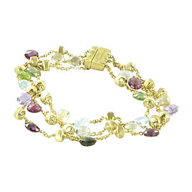 Marco Bicego Paradise 18K Yellow Gold with Mixed Stones Bracelet