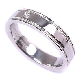 Tiffany & Co. Classic Milgrain Platinum Diamond Ring Size 3.75