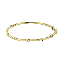 Hearts on Fire Copley 18K Yellow Gold with 0.16ctw Diamond Bangle Bracelet