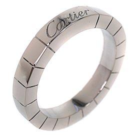 Cartier Lanieres Ring 18K White Gold Size 3.75