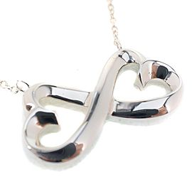 Tiffany & Co. Paloma Picasso Double Loving Necklace Sterling Silver