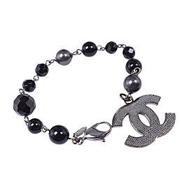 Chanel Silver Tone CC Bracelet