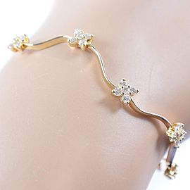 Ponte Vecchio 18K Yellow Gold With Diamond Bracelet