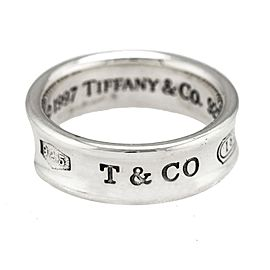 Tiffany & Co. 1837 925 Sterling Silver Concave Band Ring Size 5