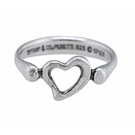 Tiffany & Co. Elsa Peretti Open Heart Ring Size 4.75